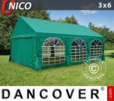Carpa para fiestas UNICO 3x6m, Verde oscuro