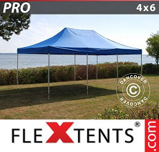 Carpa plegable FleXtents 4x6m Azul