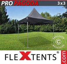 Carpa plegable FleXtents 3x3m Negro