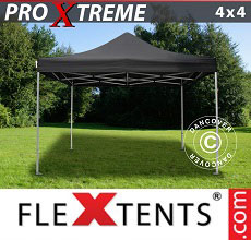 Carpa plegable FleXtents 4x4m Negro