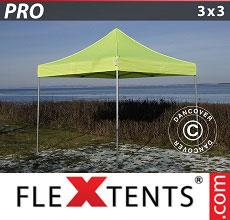 Carpa plegable FleXtents 3x3m Amarillo Flúor/verde
