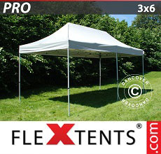 Carpa plegable FleXtents 3x6m Plateado