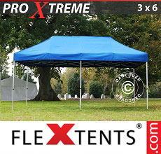 Carpa plegable FleXtents 3x6m Azul