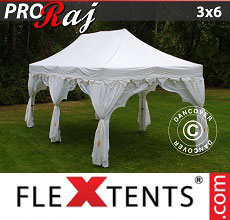 Carpa plegable FleXtents 3x6m Blanco/Oro