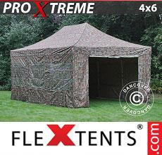 Carpa plegable FleXtents 4x6m Camuflaje, Incl. 8 lados