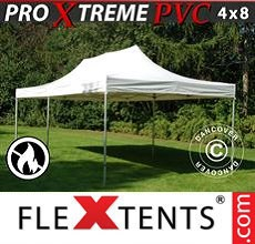 Carpa plegable FleXtents 4x8m, Blanco