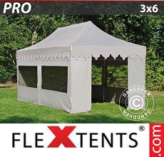 Carpa plegable FleXtents 3x6m Latte, incl. 6 lados