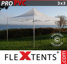 Carpa plegable FleXtents 3x3m Transparente