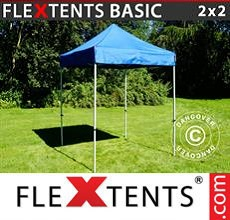 Carpa plegable FleXtents 2x2m Azul