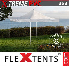Carpa plegable FleXtents 3x3m Transparente