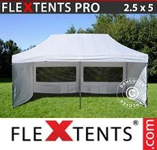 Carpa plegable FleXtents 2,5x5m Blanco, Incl. 6 lados