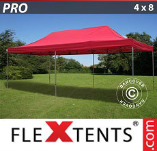 Carpa plegable FleXtents 4x8m Rojo