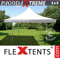 Carpa plegable FleXtents 4x4m / (5x5m) Blanco