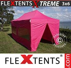 Carpa plegable FleXtents 3x6m Rosa, Incl. 6 lados
