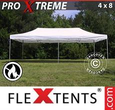 Carpa plegable FleXtents 4x8m Blanco, Ignífuga