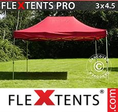 Carpa plegable FleXtents 3x4,5m Rojo
