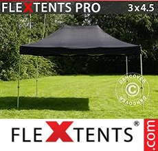 Carpa plegable FleXtents 3x4,5m Negro