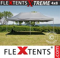 Carpa plegable FleXtents 4x8m Gris