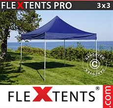 Carpa plegable FleXtents 3x3m Azul oscuro