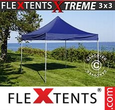 Carpa plegable FleXtents 3x3m Azul oscuro