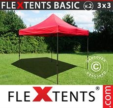 Carpa plegable FleXtents 3x3m Rojo