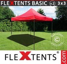 Carpa plegable FleXtents 3x3m Rojo