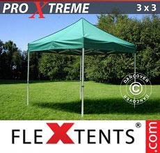 Carpa plegable FleXtents 3x3m Verde