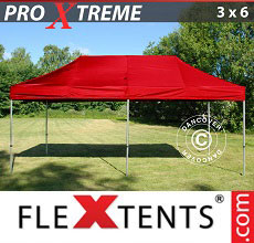 Carpa plegable FleXtents 3x6m Rojo