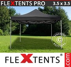 Carpa plegable FleXtents 3,5x3,5m Negro