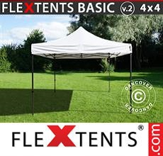 Carpa plegable FleXtents 4x4m Blanco