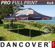 Carpa plegable FleXtents PRO con impresión digital completa, 4x6m