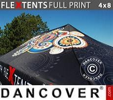 Cubierta de techo impresa con cenefa para carpa plegable FleXtents® PRO 4x8m