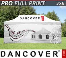 Carpa plegable FleXtents PRO con impresión digital completa, 3x6m, incluye 4...