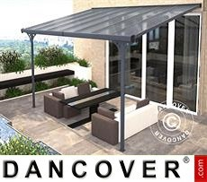 Cubierta para patio Malibu, 3,05x4,36m, Gris Oscuro
