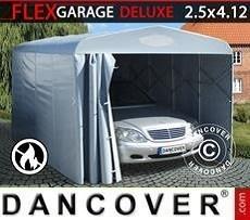 Garaje plegable tipo túnel (para coche), 2,5x4,12x2.15m, gris