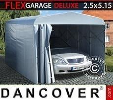 Garaje plegable tipo túnel (para coche), ECO, 2,5x5,15x2,15m, gris
