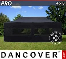 Flextents Carpas Eventos 4x8m Negro, incl. 6 lados