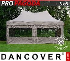 Flextents Carpas Eventos 3x6m Latte, incluye 6 muros laterales