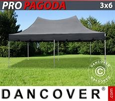 Flextents Carpas Eventos 3x6m Negro, incluye 6 muros laterales