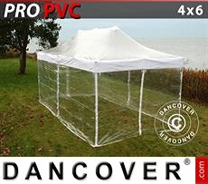 Flextents Carpas Eventos 4x6m Transparente, Incl. 8 lados