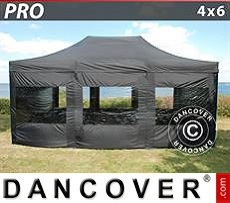Flextents Carpas Eventos 4x6m Negro, incl. 8 lados