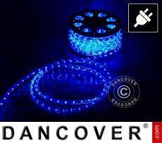Corda de luces LED, 25m, Ø1,2cm, Multifunción, azul