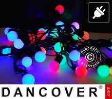 Guirnalda de luces LED, parpadeantes, 10m, Multi colores