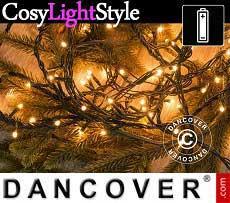 Cadena de luces a 140 LEDs, Multifunción, 10,5m, Blanco Cálido