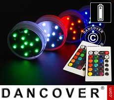 Base de luz LED (4 piezas), Ø7cm, Multicolor
