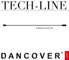 Cable de extensión sin enchufe, Tech-Line, 5m