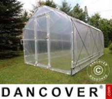 Invernadero de policarbonato, Duo 12m², 2x6m, Plateado