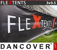 Banner impreso para carpa plegable FleXtents®, 3x0,5m