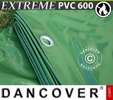 Lona impermeable 4x6m, PVC 600g/m² Verde, Ignífuga