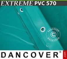 Lona impermeable 6x8m, PVC 500g/m², Verde, Ignífuga